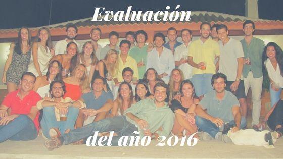 Evaluacion del año 2016