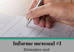 Informe mensual 1 Diciembre 2016