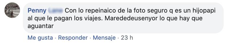 Comentario negativo Facebook 1